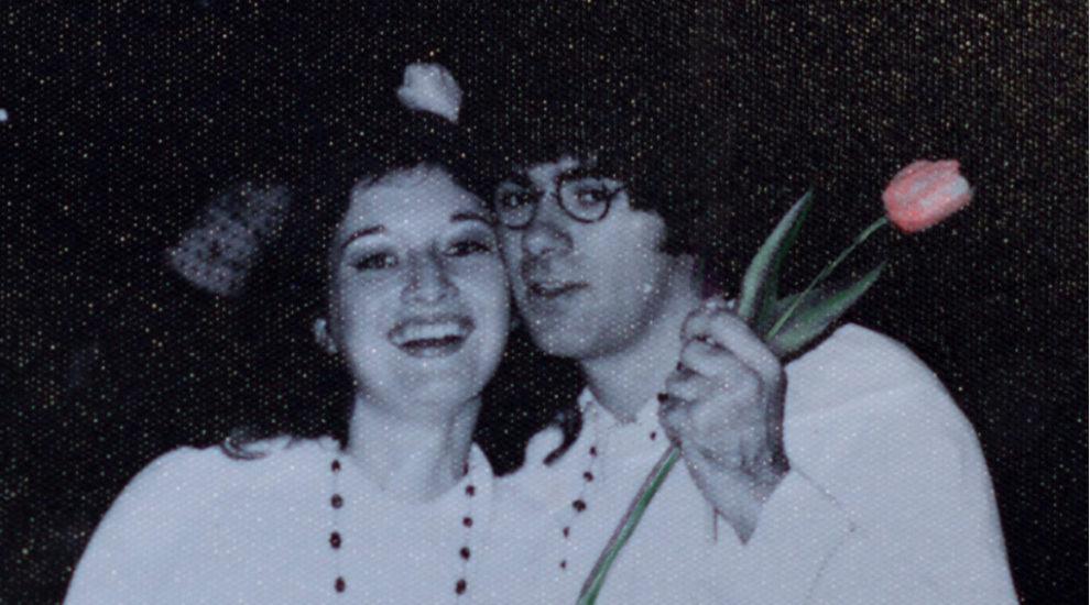 Peter and Gerda as John Lennon and Yoko Ono at a university dance in Pretoria, 1969