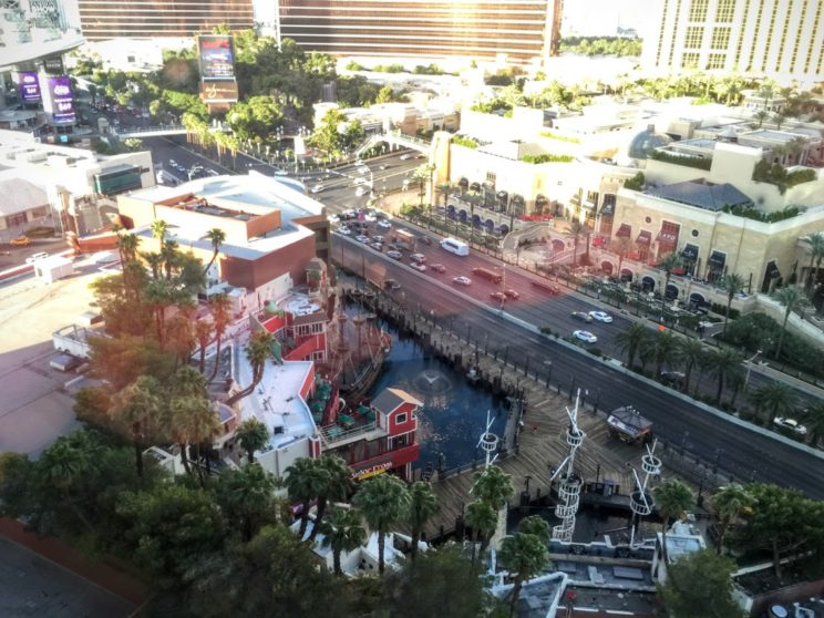 View from Las Vegas hotel room