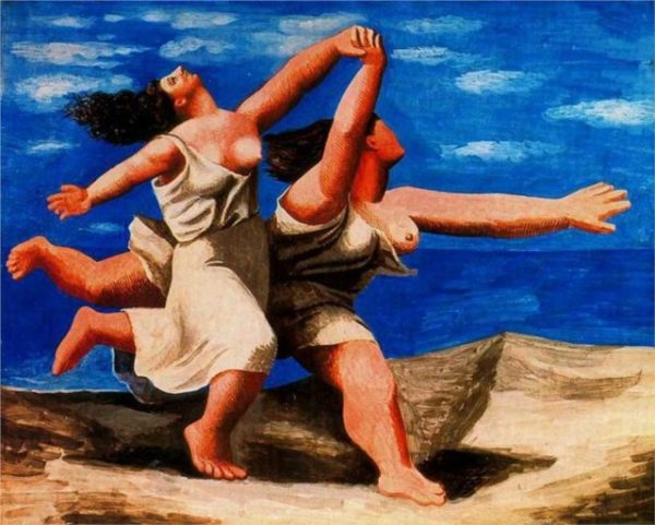 Two Women Running on the Beach, Pablo Picasso